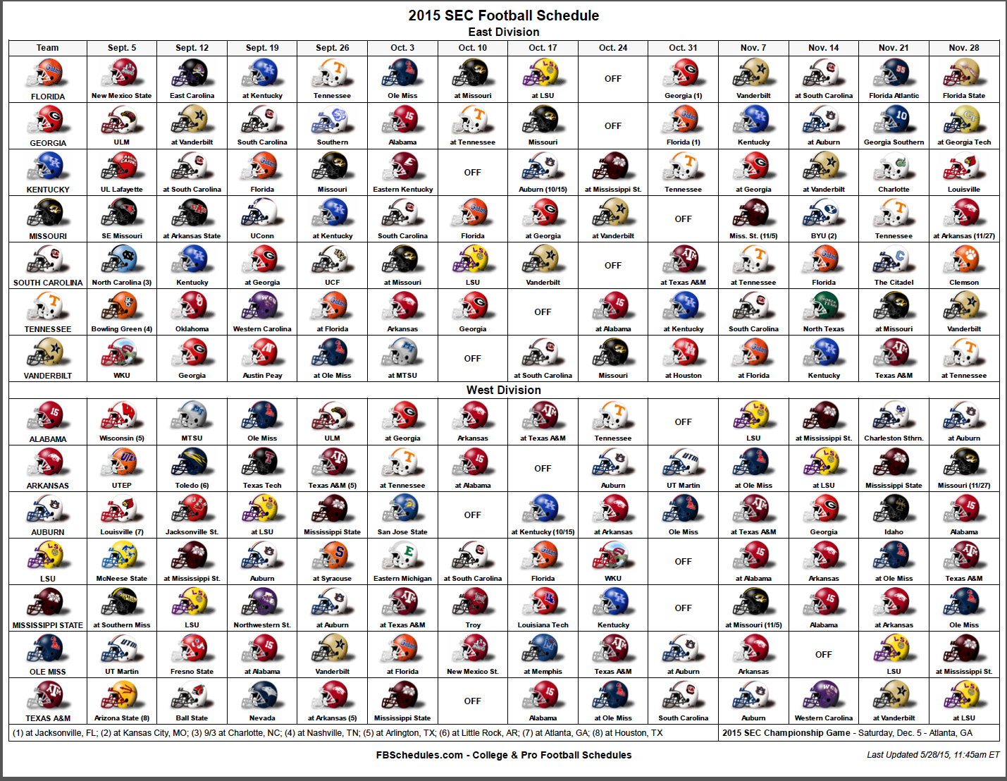 college football 2015 schedule ncaa football texas