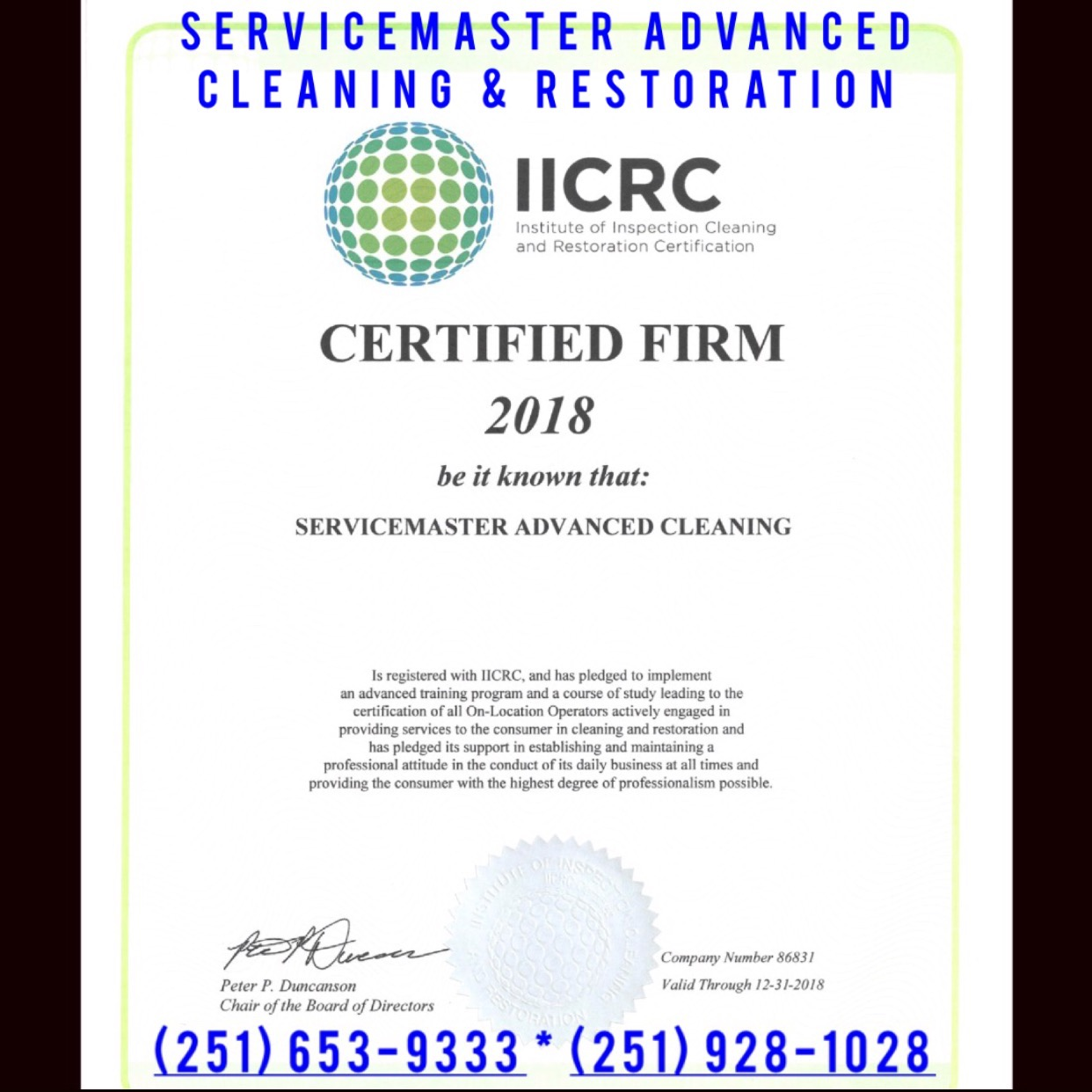 How Many Iicrc Certified Firms For Water Damage Restoration Are